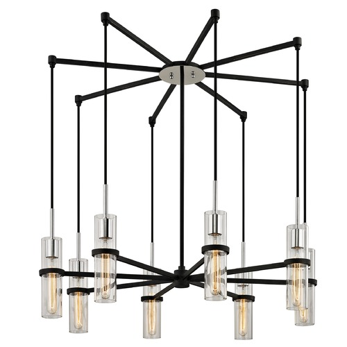 Troy Lighting Troy Lighting Xavier Vintage Iron Multi-Light Pendant with Cylindrical Shade F6198