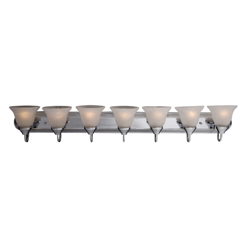 Maxim Lighting Bathroom Light with White Glass in Polished Chrome Finish 8016MRPC