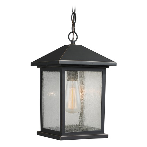 Z-Lite Z-Lite Portland Oil Rubbed Bronze Outdoor Hanging Light 531CHM-ORB