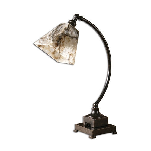 Uttermost Lighting Task / Reading Lamp with Multi-Color Shade in Black Finish 29838-1