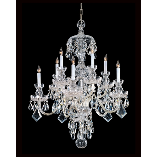 Crystorama Lighting Crystal Chandelier in Polished Brass Finish 1140-PB-CL-MWP