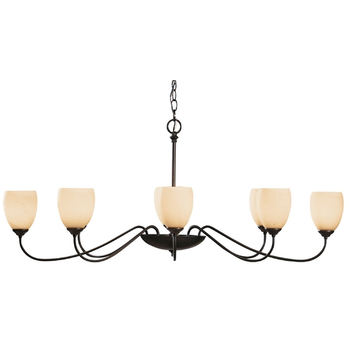 Hubbardton Forge Lighting Oval Eight-Light Chandelier 101308-07-H83