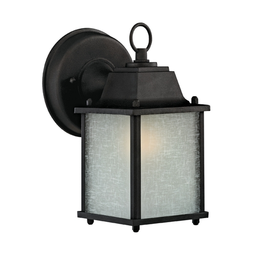 Design Classics Lighting 8-3/4-Inch Outdoor Wall Light 6045 BK