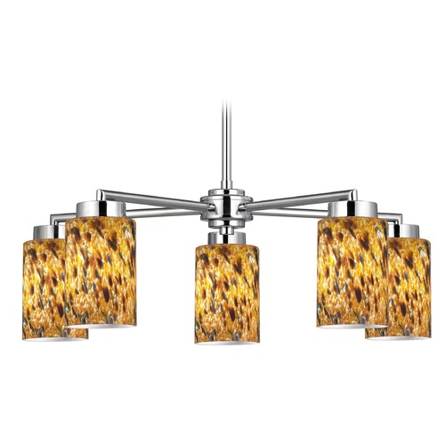 Design Classics Lighting Design Classics Mateo Fuse Chrome Chandelier 590-26 GL1005C