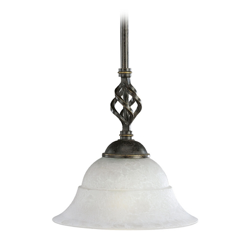 Progress Lighting Progress Mini-Pendant Light with White Glass P5000-84