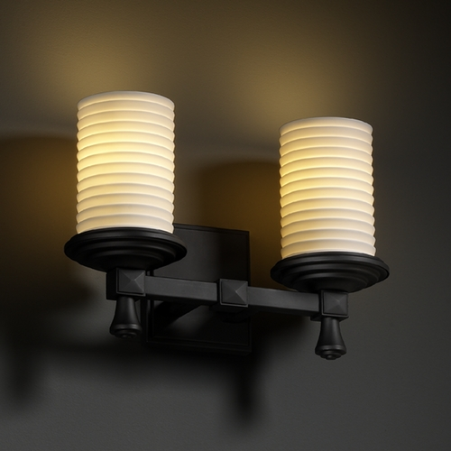 Justice Design Group Justice Design Group Limoges Collection Bathroom Light POR-8532-10-SAWT-MBLK