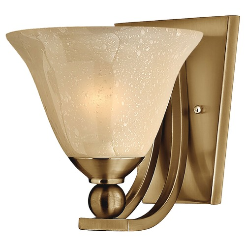 Hinkley Lighting Sconce Wall Light with Amber Glass in Brushed Bronze Finish 4650BR
