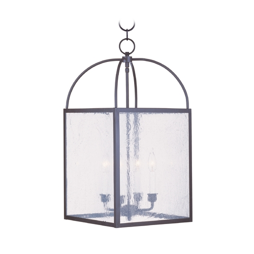 Livex Lighting Livex Lighting Milford Bronze Pendant Light with Square Shade 4046-07