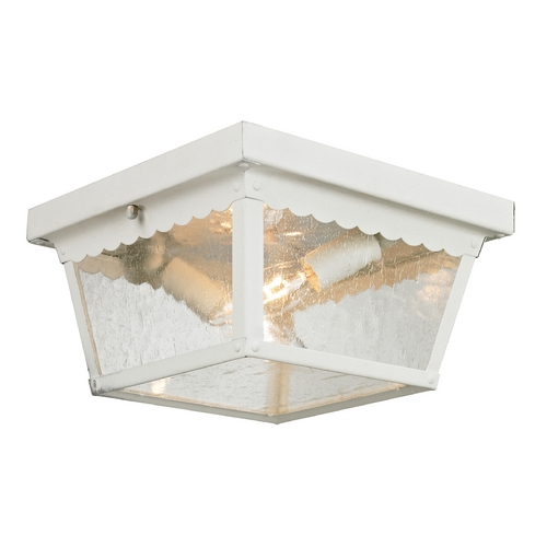 Cornerstone Lighting Seeded Glass Close To Ceiling Light White Cornerstone Lighting 9002EF/40