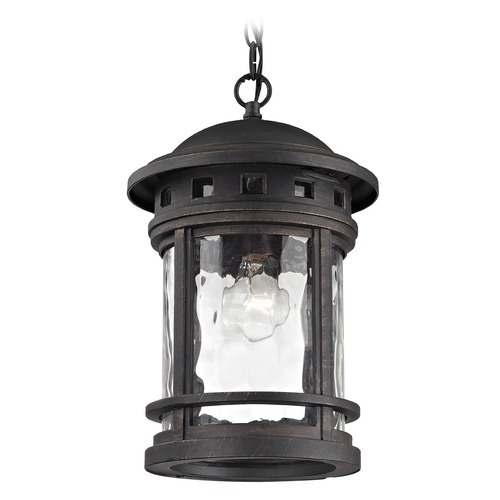 Elk Lighting Elk Lighting Costa Mesa Weathered Charcoal Outdoor Hanging Light 45113/1