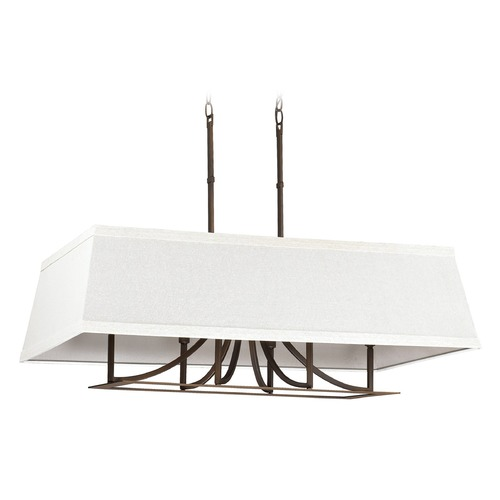Capital Lighting Capital Lighting Parker Burnished Bronze Island Light with Rectangle Shade 4656BB-603