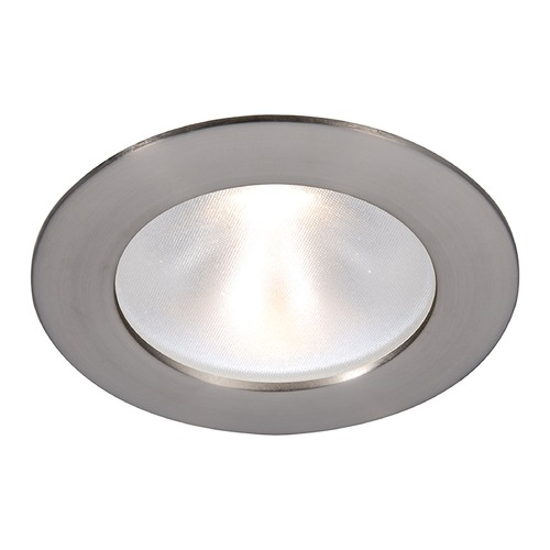 WAC Lighting WAC Lighting Round Brushed Nickel 3.5-Inch LED Recessed Trim 3000K 1065LM 48 Degree HR3LD-ET118PF927BN