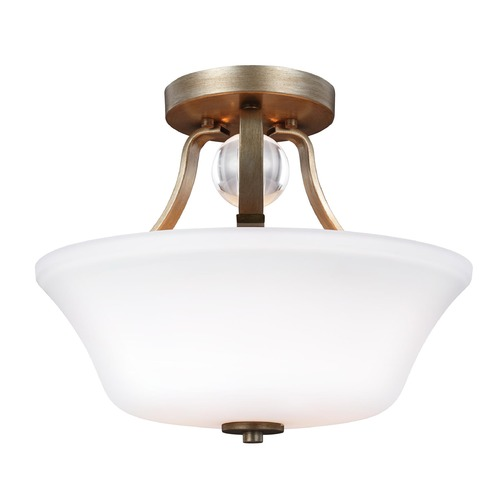 Feiss Lighting Feiss Lighting Evington Sunset Gold Semi-Flushmount Light SF334SG