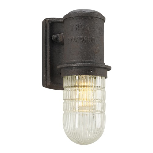 Troy Lighting Seeded Glass Outdoor Wall Light Bronze Troy Lighting B4341