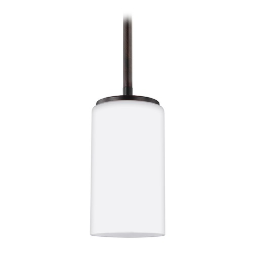 Sea Gull Lighting Sea Gull Lighting Alturas Burnt Sienna Mini-Pendant Light with Cylindrical Shade 6124601-710