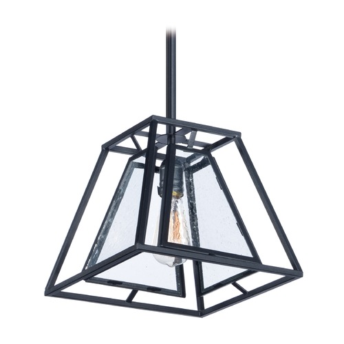 Maxim Lighting Seeded Glass Pendant Light Square Maxim Lighting 21673CDBK/BUI