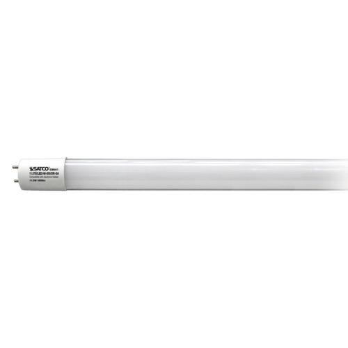 satco led t8 bulb bi pin 220 degree beam spread 4000k 120v. Black Bedroom Furniture Sets. Home Design Ideas