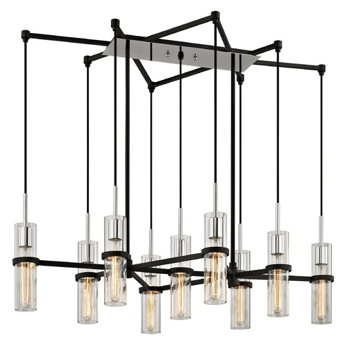 Troy Lighting Troy Lighting Xavier Vintage Iron Multi-Light Pendant with Cylindrical Shade F6199