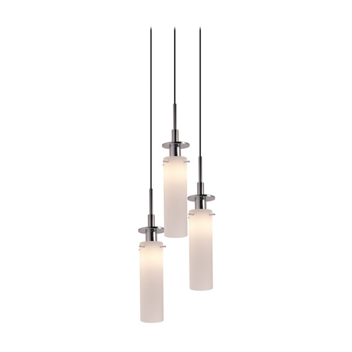 Sonneman Lighting Modern Multi-Light Pendant Light with White Glass and 3-Lights 3034.01