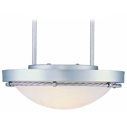 Lite Source Lighting Lite Source Lighting Easton Pendant Light with Bowl / Dome Shade LS-1831SS/CLD