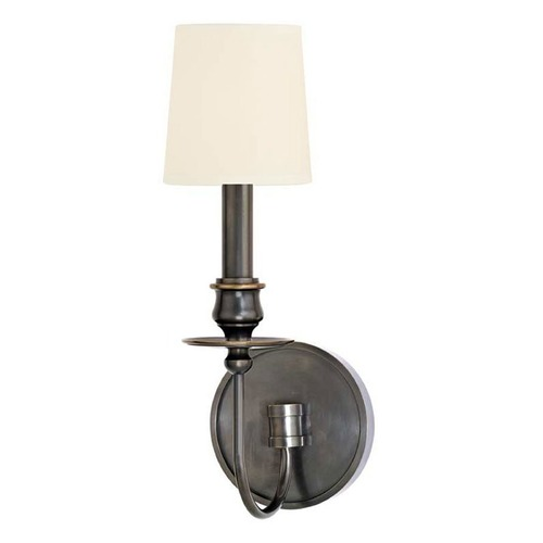 Hudson Valley Lighting Sconce Wall Light with White Shade in Old Bronze Finish 8211-OB-WS