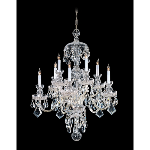 Crystorama Lighting Crystal Chandelier in Polished Brass Finish 1140-PB-CL-S
