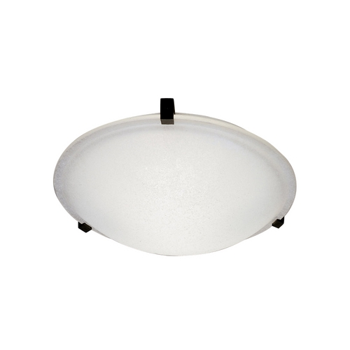 PLC Lighting Modern Flushmount Light with White Glass in Rust Finish 3442 RU