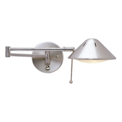 LEDs by ZEPPELIN LED Swing-Arm Plug-In Wall Lamp JW-200 SN