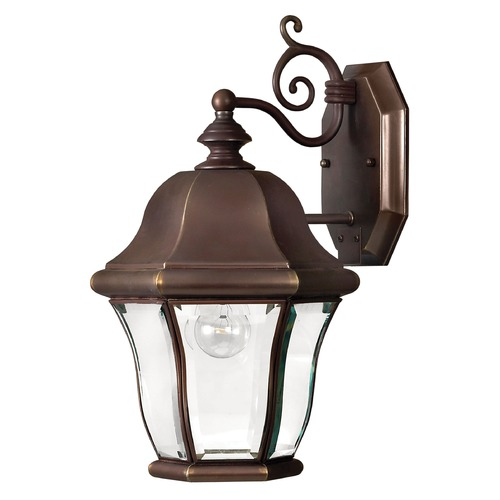 Hinkley Lighting Outdoor Wall Light with Clear Glass in Copper Bronze Finish 2330CB