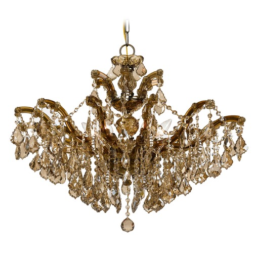 Crystorama Lighting Crystorama Maria Theresa 6-Light Crystal Chandelier in Antique Brass 4439-AB-GTS
