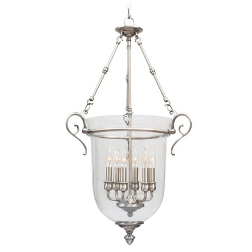 Livex Lighting Livex Lighting Legacy Brushed Nickel Pendant Light with Bowl / Dome Shade 5023-91