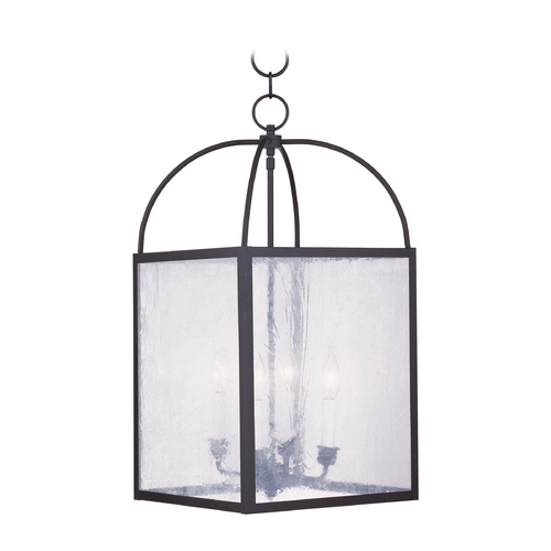 Livex Lighting Livex Lighting Milford Black Pendant Light with Square Shade 4046-04