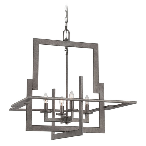 Lite Source Lighting Lite Source Lighting Mireya Antique Silver Pendant Light LS-19255