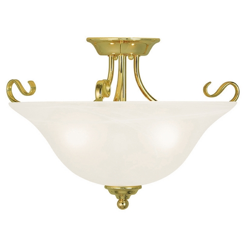 Livex Lighting Livex Lighting Coronado Polished Brass Semi-Flushmount Light 6130-02