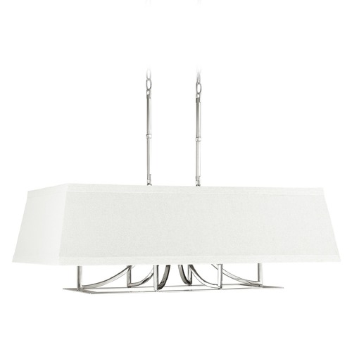 Capital Lighting Capital Lighting Parker Polished Nickel Island Light with Rectangle Shade 4656PN-603