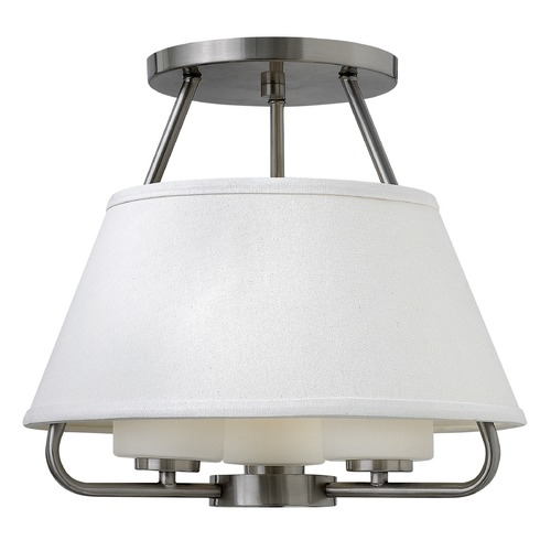Hinkley Lighting Hinkley Lighting Cole Brushed Nickel Semi-Flushmount Light 3951BN