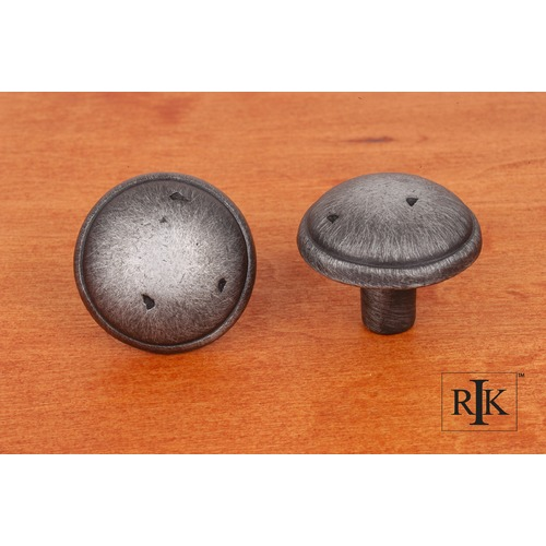 RK International Distressed Mushroom Knob with Ring Edge CK711DN