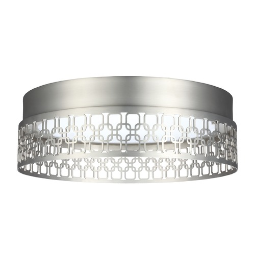 Feiss Lighting Feiss Lighting Amani Satin Nickel LED Flushmount Light FM500SN-LED