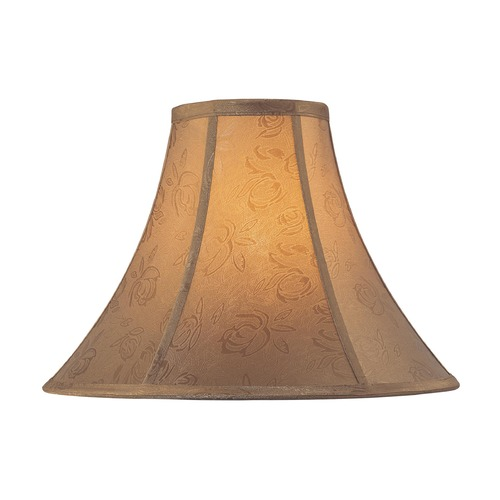 Lite Source Lighting Gold Bell Lamp Shade with Spider Assembly CH1158-18