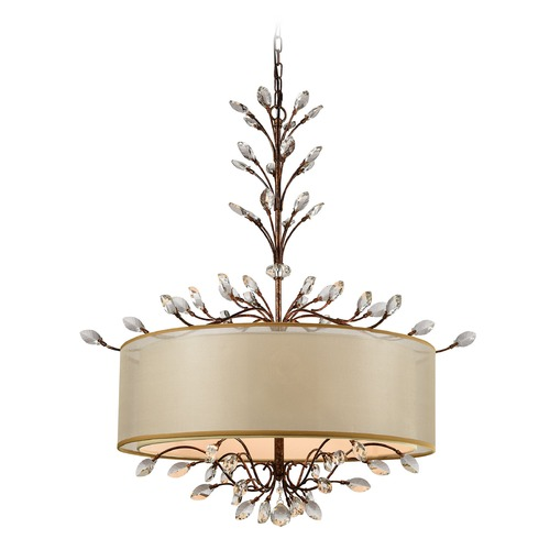 Elk Lighting Elk Lighting Asbury Spanish Bronze Pendant Light with Drum Shade 16293/6