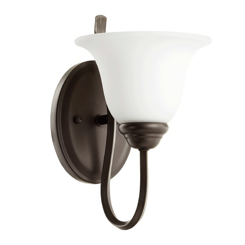 Quorum Lighting Quorum Lighting Spencer Oiled Bronze Sconce 5510-1-186