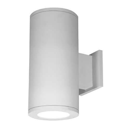 WAC Lighting 5-Inch White LED Tube Architectural Up and Down Wall Light 4000K 4890LM DS-WD05-F40B-WT
