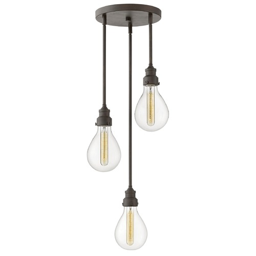 Hinkley Hinkley Denton 3-Light Industrial Iron Multi-Light Pendant 3263IN