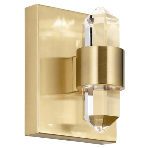Elan Lighting Arabella Champagne Gold LED Sconce with Clear Crystal 3000K 337.5LM 84070CG