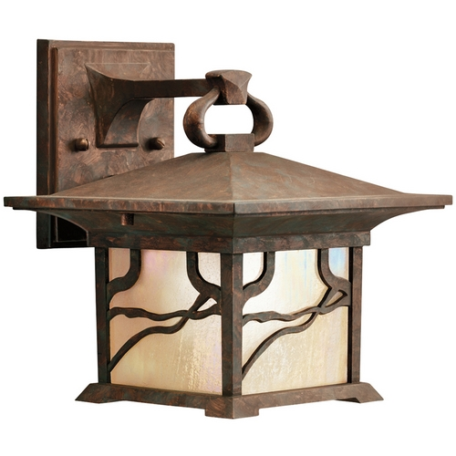 Kichler Lighting Kichler 9.5-Inch Distressed Copper Outdoor Wall Light 9025DCO