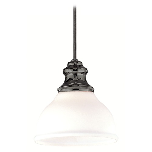 Hudson Valley Lighting Mini-Pendant Light with White Glass 5921-AN