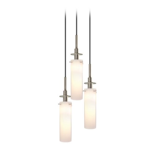 Sonneman Lighting Modern Multi-Light Pendant Light with White Glass and 3-Lights 3034.13