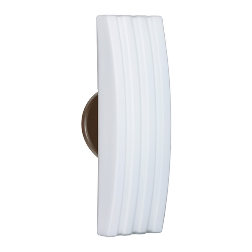 Besa Lighting Modern Sconce Wall Light White Glass Bronze by Besa Lighting 785507-BR