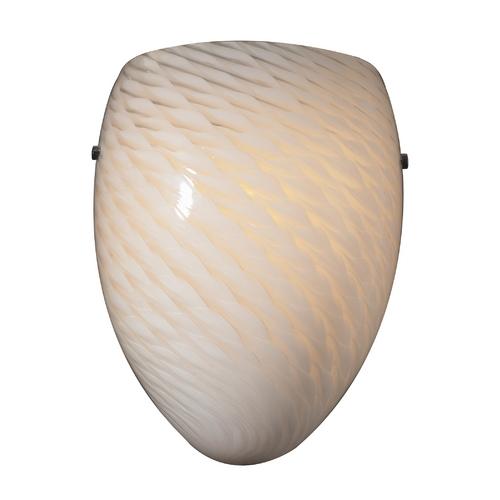 Elk Lighting Modern Sconce Wall Light with White Glass in Satin Nickel Finish 426-1WS