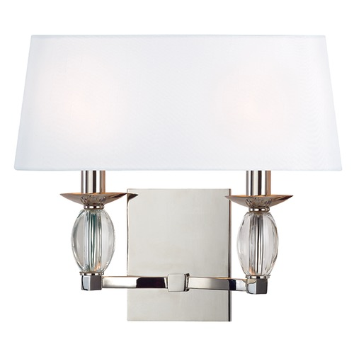 Hudson Valley Lighting Cameron ADA 2 Light Sconce - Polished Nickel 4612-PN
